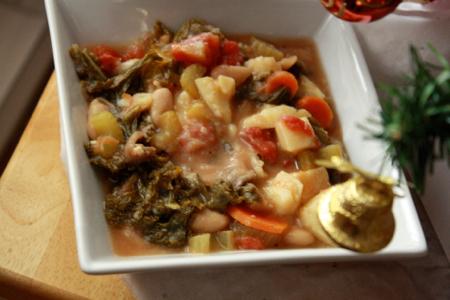 soupe legumes et vin blanc