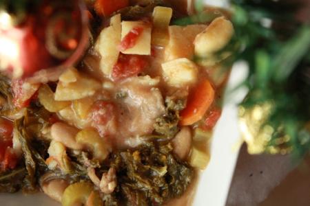 soupe légumes et vin blanc