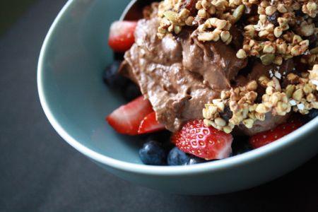 grawnola et pouding au cacao