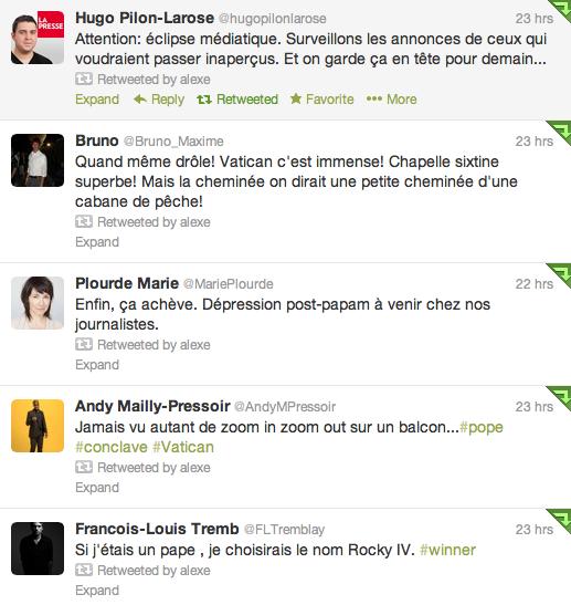 tweet papal