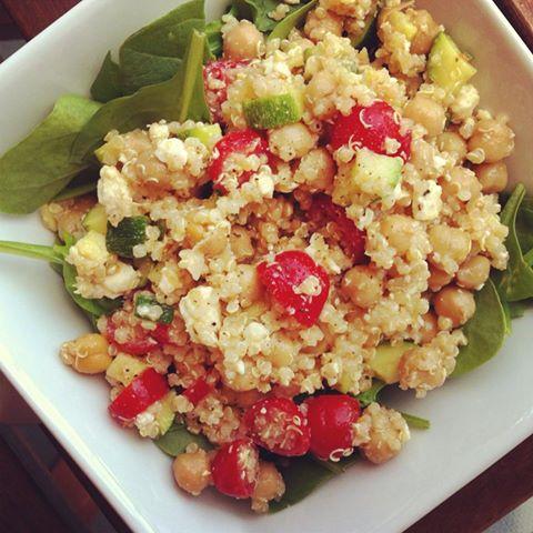 salade de quinoa aux couleurs de Noël