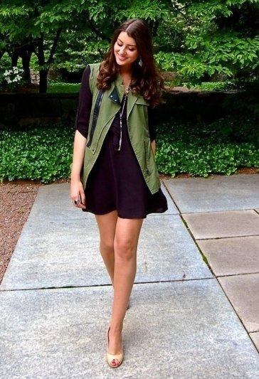 vero-moda-dark-green-nine-west-vests~look-main