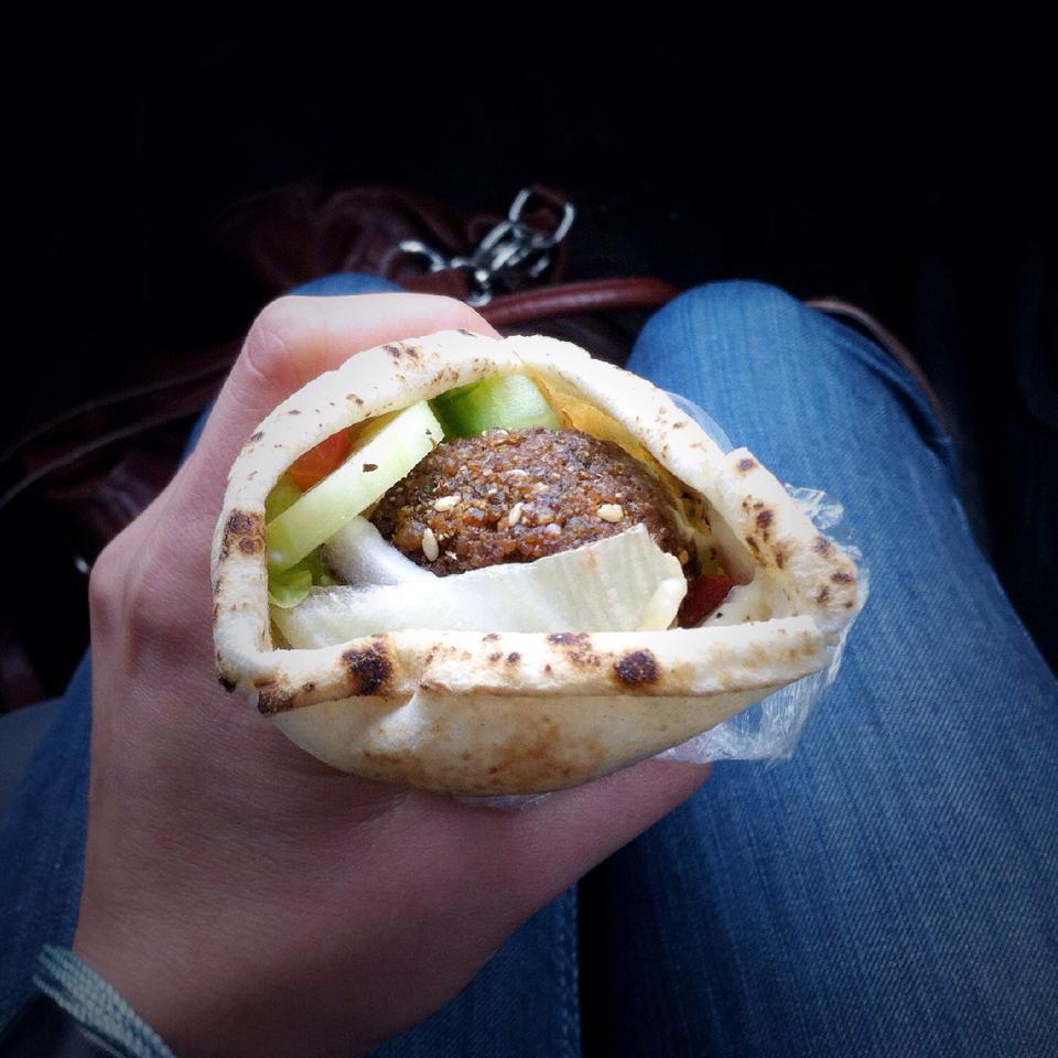 sandwich au falafels