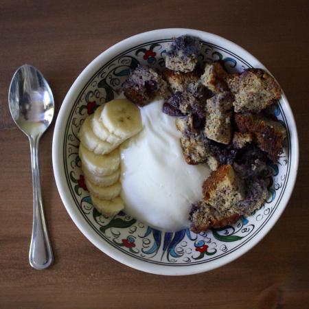 yogourt et muffin