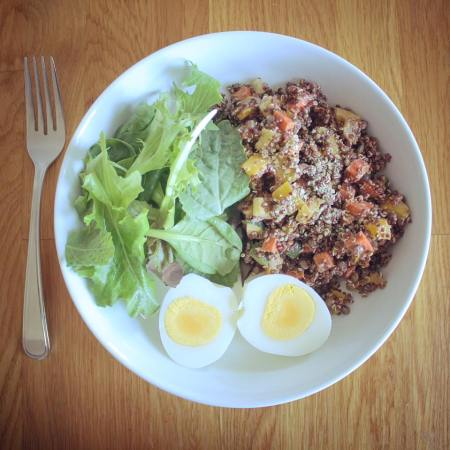 salade de quinoa et oeuf