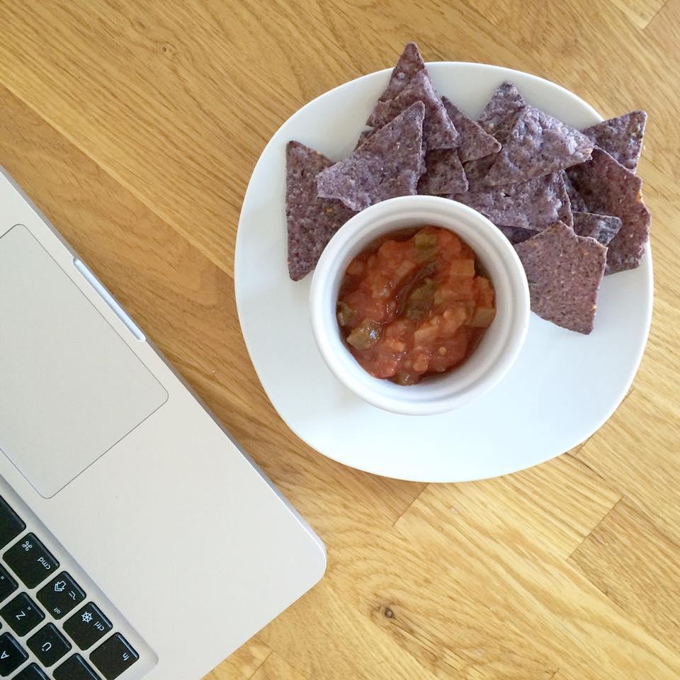 salsa et croustilles