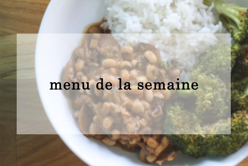 menu de la semaine 2