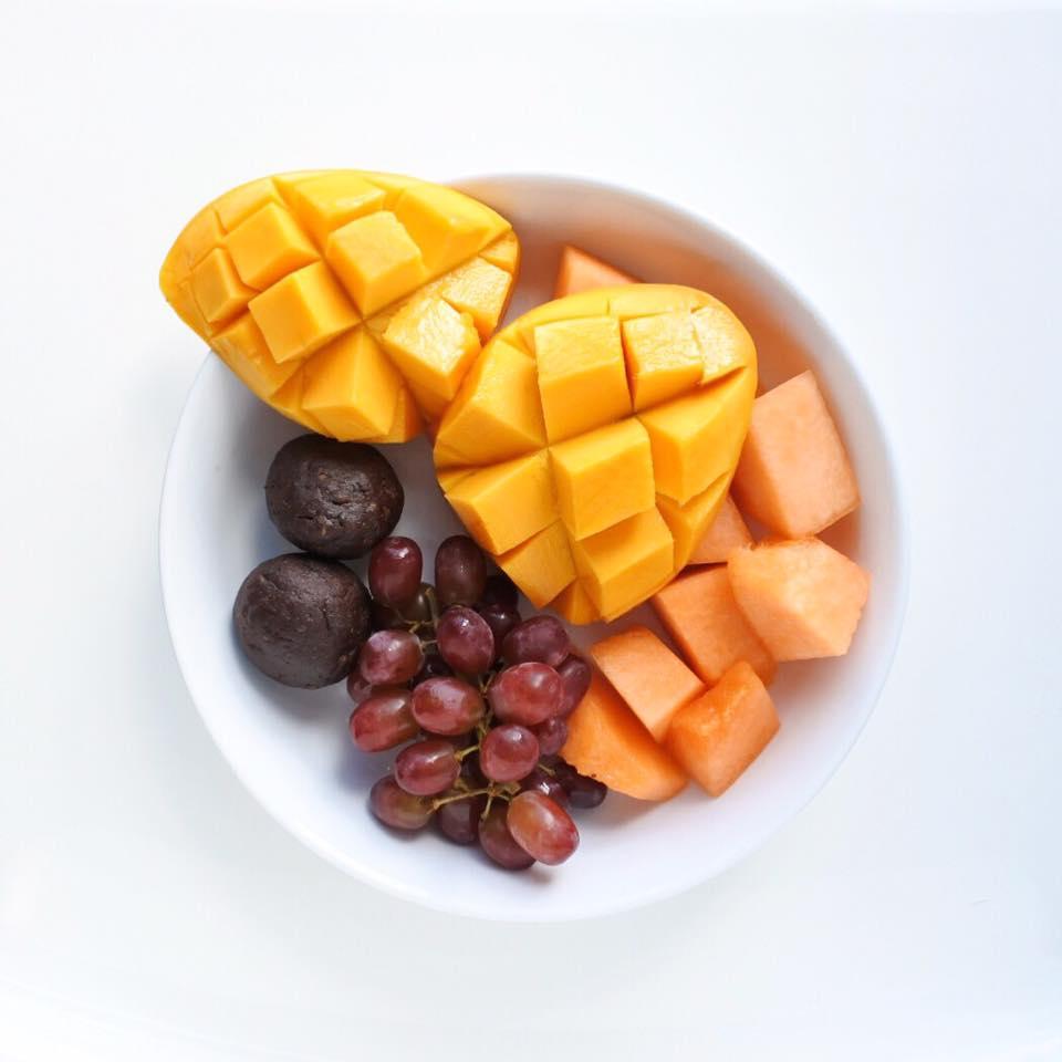 assiette fruitée