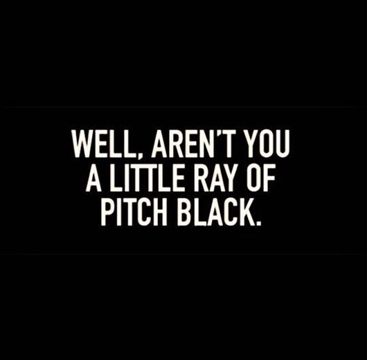 pitch-black