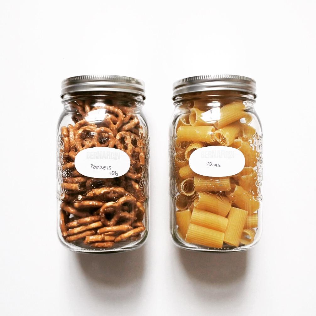pâtes et pretzels