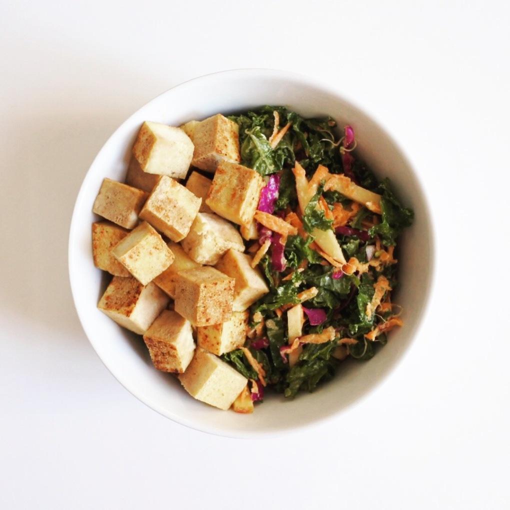 salade kale tofu