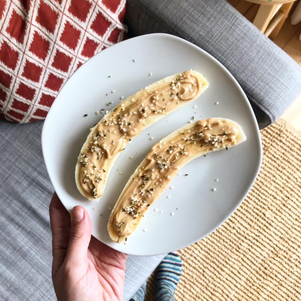 banane au beurre d'arachides